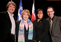 February 16 2006, Montreal (Qc) CANADA<br /> Alain Simard, Founder and Chairman of the Board / Fondateur et President du Conseil<br /> Francoise Gauthier, Quebec Minister of Tourism, Minstre Tourisme Quebec<br /> Soraya Martinez, City of Montreal<br /> Michel Labrecque, President and General Manager / President-Directeur=General Festival Montreal en lumiere<br /> Photo : Pierre Roussel / Images Distribution