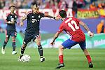 Atletico de Madrid's Augusto Fernandez (r) and FC Bayern Munchen's Arturo Vidal during Champions League 2015/2016 Semi-Finals 1st leg match. April 27,2016. (ALTERPHOTOS/Acero)