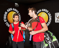 Februari 13, 2015, Netherlands, Rotterdam, Ahoy, ABN AMRO World Tennis Tournament, Marcel Granollers (ESP) / Marc Lopez (ESP) <br /> Photo: Tennisimages/Henk Koster