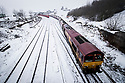 08/03/18<br /> <br /> A freight train passes through a wintry siding near Doveholes after snow returns to the Derbyshire Peak District.<br /> <br /> All Rights Reserved F Stop Press Ltd. +44 (0)1335 344240 +44 (0)7765 242650  www.fstoppress.com