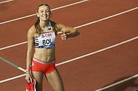 26th August 2021; Lausanne, Switzerland;  Femke Bol winning the womens 400m Hurdles during Diamond League athletics meeting  at La Pontaise Olympic Stadium in Lausanne, Switzerland.