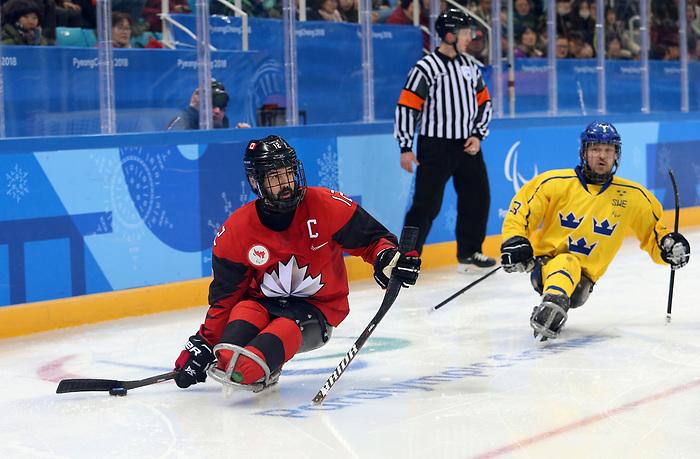 Greg Westlake, PyeongChang 2018 - Para Ice Hockey //  Para-hockey sur glace.<br /> Canada plays Sweden in Para Ice Hockey // Le Canada affronte la Suède en para hockey sur glace. 10/03/2018.