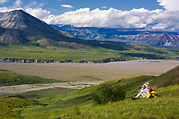 The view from the mountains above Eielson Visitor's center, Denali National Park