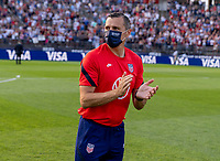 EAST HARTFORD, CT - JULY 5: Vlatko Andonovski of the USWNT talks to his team during a game between Mexico and USWNT at Rentschler Field on July 5, 2021 in East Hartford, Connecticut.