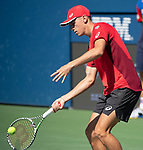Alex de Minaur plays Cristian Garin (CHI) at the US Open being played on August  29, 2019