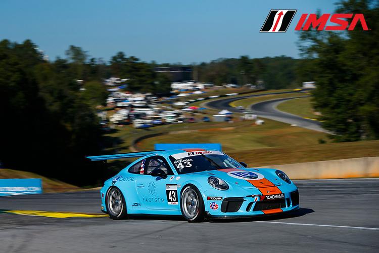 IMSA Porsche GT3 Cup Challenge USA<br /> Road Atlanta<br /> Road Atlanta, Braselton GA<br /> Wednesday 4 October 2017<br /> 43, Mark Kvamme, GT3P, USA, M, 2017 Porsche 991<br /> World Copyright: Jake Galstad<br /> LAT Images