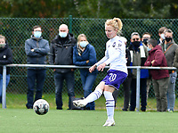 Charlotte Tison (20 Anderlecht) pictured during a female soccer game between Club Brugge Dames YLA and RSC Anderlecht Ladies on the fifth matchday of the 2020 - 2021 season of Belgian Scooore Womens Super League , sunday 18 October 2020  in Brugge , Belgium . PHOTO SPORTPIX.BE | SPP | DAVID CATRY