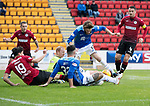 St Johnstone v St Mirren…27.10.18…   McDiarmid Park    SPFL<br />Craig Samson and Alfie Jones manager to block Murray Davidson and Tony Watt's efforts at goal<br />Picture by Graeme Hart. <br />Copyright Perthshire Picture Agency<br />Tel: 01738 623350  Mobile: 07990 594431