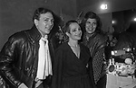 VISITA NEI  CAMERINI DI SUSAN SONTAG CON OSVALDO RUGGERI<br /> ADRIANA ASTI - PRIMA AL TEATRO ELISEO ROMA 12/1980