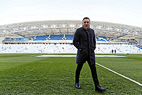 Swansea manager Carlos Carvalhal walks on the pitch prior to the game during the Premier League match between Brighton and Hove Albion and Swansea City and at the Amex Stadium, Brighton, England, UK. Saturday 24 February 2018