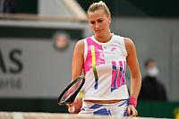 8th October 2020, Roland Garros, Paris, France; French Open tennis, Roland Garros 2020;  Petra Kvitova - Czech Republic