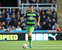 Jack Cork of Swansea City during the Barclays Premier League match between Newcastle United and Swansea City played at St. James' Park, Newcastle upon Tyne, on the 16th April 2016