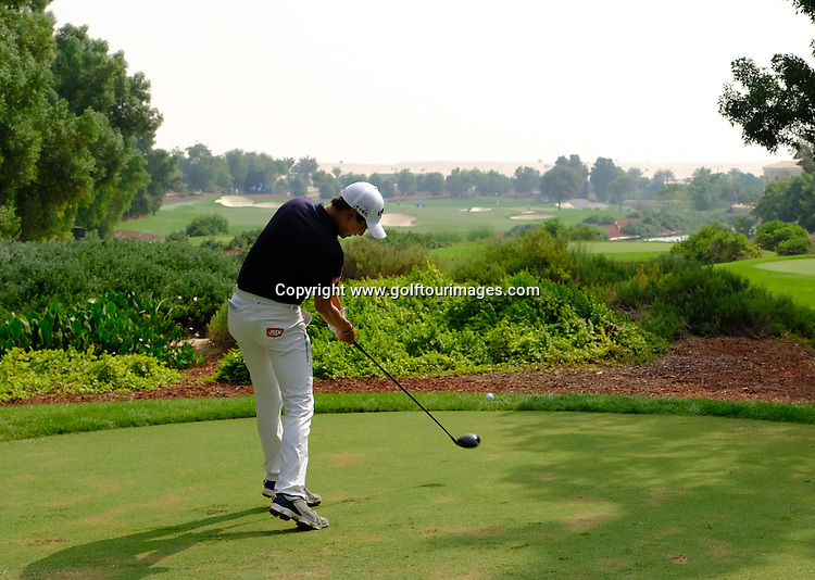Wang during round three of the 2016 DP World Tour Championships played over the Earth Course at Jumeirah Golf Estates, Dubai, UAE: Picture Stuart Adams, www.golftourimages.com: 11/19/16