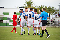 Lakewood Ranch, FL - Sunday July 23, 2017: Nicholas Mayhugh #11, David Garza #14, Andrew Bremer #8, Cameron DeLillo during an international friendly match between the paralympic national teams of the United States (USA) and Canada (CAN) at Premier Sports Campus at Lakewood Ranch.