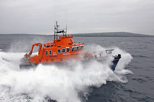 Aran Islands RNLI to the rescue - a 2.5m sea swell and poor visibility due to the heavy rain added to the difficulty of the Medical Evacuation mission