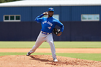 FCL Blue Jays pitcher Tony Rosario (74) during a game against the FCL Yankees on June 29, 2021 at the Yankees Minor League Complex in Tampa, Florida.  (Mike Janes/Four Seam Images)