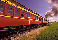 AJ2995, Lancaster County, Pennsylvania, excursion train, train, Strasburg Rail Road Company, Steam locomotive pulls the passenger train through the scenic Amish Country in Strasburg in Pennsylvania Dutch Country in the state of Pennsylvania.