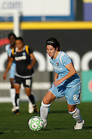 Sarah Walsh (8) of Sky Blue FC. The Los Angeles Sol defeated Sky Blue FC 2-0 during a Women's Professional Soccer match at TD Bank Ballpark in Bridgewater, NJ, on April 5, 2009. Photo by Howard C. Smith/isiphotos.com