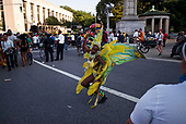 """Park Slope , Brooklyn<br /> New York<br /> September 4, 2017<br /> <br /> Brooklyn (Rasta) Labor Day Parade or West Indian Day Parade, J'Ouvert festival.<br /> <br /> J'Ouvert meaning """"day break"""" is a celebration to commemorate the emancipation of slaves in Trinidad and it also marks the beginning of the West Indian celebration of culture that happens every year in Brooklyn."""