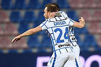 Christian Eriksen of FC Internazionale celebrates after scoring the goal of 0-1 during the Serie A football match between FC Crotone and FC Internazionale at stadio Ezio Scida in Crotone (Italy), May 1st, 2021. Photo Daniele Buffa / Image Sport / Insidefoto