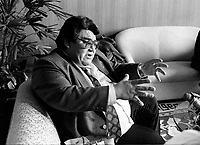 Montreal (qc) CANADA - file Photo - 1992 - <br /> chief Billy Diamond,indian leader