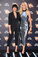 """Claudia Winkleman and Tess Daly<br /> at the launch of """"Strictly Come Dancing"""" 2018, BBC Broadcasting House, London<br /> <br /> ©Ash Knotek  D3426  27/08/2018"""