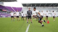 Orlando, Florida - Friday January 12, 2018: Agility test. The 2018 adidas MLS Player Combine Skills Testing was held Orlando City Stadium.