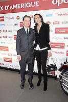 Edouard De ROTHSCHILD et sa femme Irene SALVADOR - Prix d'Amerique Opodo 29 janvier 2017 - Hippodrome de Vincennes - Paris - France