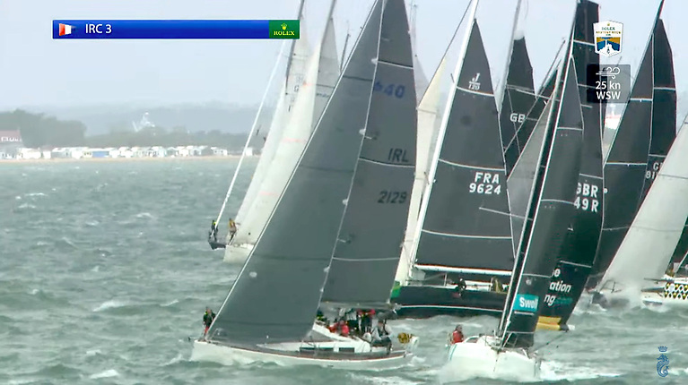 Royal Cork's Nieulargo nails the start in the biggest of the Fastnet Race fleets