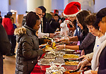 WATERBURY, CT. 21 December 2019-122119BS300 - A hot meal is given out for those in attendance, during a Christmas Party for the less fortunate and homeless at the Basilica of Immaculate Conception in Waterbury on Saturday. Bill Shettle Republican-American