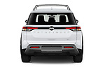 Straight rear view of 2022 Nissan Pathfinder SL 5 Door SUV Rear View  stock images