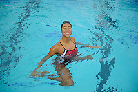 Gayle Lee of the 2010 Stanford Synchronized Swimming team.
