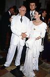 CARLA FRACCI CON IL MARITO BEPPE MENEGATTI E IL FIGLIO FRANCESCO<br /> AMFAR FOUNDATION CHARITY GALA PALAZZO VOLPI VENEZIA 1993