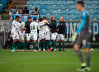 6th October 2021; Arena do Gremio, Porto Alegre, Brazil; Brazilian Serie A, Gremio versus Cuiaba;  Marllon Borges of Cuiaba celebrates his goal in the 79th minute 1-2