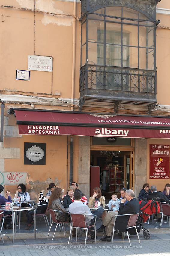 restaurant terrace Plaza de Regla , Leon spain castile and leon