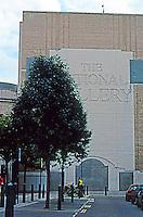 London: Sainsbury Wing--North Facade with Venturi Signage.  Photo 2005.
