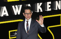 JJ Abrahams attends the STAR WARS: 'The Force Awakens' EUROPEAN PREMIERE at Odeon, Empire & Vue Cinemas, Leicester Square, England on 16 December 2015. Photo by David Horn / PRiME Media Images