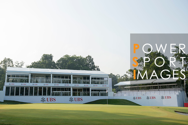 UBS pavilion at UBS Hong Kong Open golf tournament at the Fanling golf course on 24 October 2015 in Hong Kong, China. Photo by Aitor Alcalde / Power Sport Images