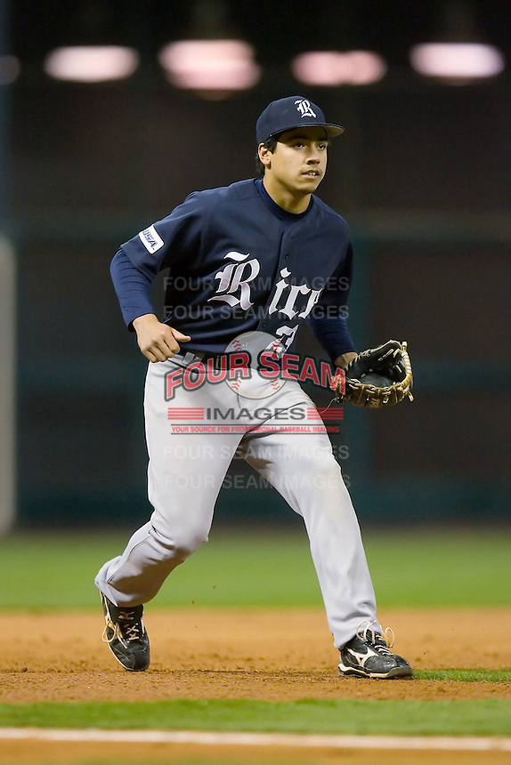 Third baseman Anthony Rendon #23 on defense versus the Texas A&M Aggies in the 2009 Houston College Classic at Minute Maid Park February 28, 2009 in Houston, TX.  The Owls defeated the Aggies 2-0. (Photo by Brian Westerholt / Four Seam Images)