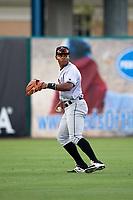 Jupiter Hammerheads left fielder Stone Garrett (26) during a game against the Fort Myers Miracle on April 9, 2017 at CenturyLink Sports Complex in Fort Myers, Florida.  Jupiter defeated Fort Myers 3-2.  (Mike Janes/Four Seam Images)