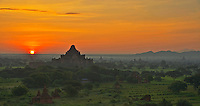 Sunrise over Bagan from the Shwe San Daw Pagoda, Myanmar