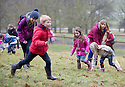 03/04/15<br /> <br /> ***PHOTO ORDER - F.A.O. MATT FEARN***<br /> <br /> Children brave the rain to take part in a Good Friday  Easter Egg hunt at Chatsworth House in the Derbyshire Peak District.<br /> <br /> All Rights Reserved - F Stop Press.  www.fstoppress.com. Tel: +44 (0)1335 418629 +44(0)7765 242650