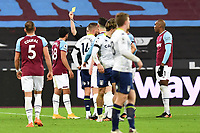 Pablo Fornals of West Ham United Receives a Yellow Card during West Ham United vs Aston Villa, Premier League Football at The London Stadium on 30th November 2020
