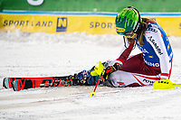 29th December 2020; Semmering, Austria; FIS Womens Giant Slalom World Cup Skiing; Katharina Liensberger of Austria reacts after her 2nd run of women Slalom competition of FIS ski alpine world cup at the Panoramapiste in Semmering