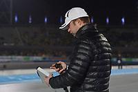 SCHAATSEN: AMSTERDAM: Olympisch Stadion, 09-03-2018, WK Allround, Coolste Baan van Nederland, Matteo Anesi (coach ITA), ©foto Martin de Jong