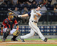 10 April 2008: Bryan Byrne of the Mobile BayBears, Class AA affiliate of the Arizona Diamondbacks, in a game against the Mississippi Braves at Trustmark Park in Pearl, Miss. Photo by:  Tom Priddy/Four Seam Images