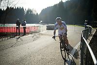German National U23 CX Champion Felix Drumm (DEU/Focus)<br /> <br /> Superprestige Francorchamps 2014