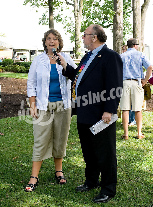 Bessie Gruwell & Rich Glazier before The Tax Free Shopping Stakes at Delaware Park on 8/22/09