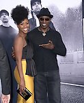 Teyonah Parris and Wesley Snipes attends The Universal Pictures' STRAIGHT OUTTA COMPTON World Premiere held at The Microsoft Theatre  in Los Angeles, California on August 10,2015                                                                               © 2015 Hollywood Press Agency