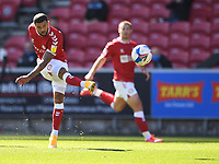27th September 2020; Ashton Gate Stadium, Bristol, England; English Football League Championship Football, Bristol City versus Sheffield Wednesday; Nahki Wells of Bristol City takes a shot at goal
